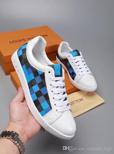 8LouisVuittonguccitop Luxury men women Casual leather Walking Sports Trainer Sneaker Running Shoes With Box 68