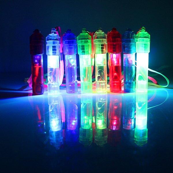 LED Light Up Whistle Colorato rumore luminoso Maker Bambini Giocattoli per bambini Festa di compleanno Novità Puntelli Forniture per feste di Natale RRA2040