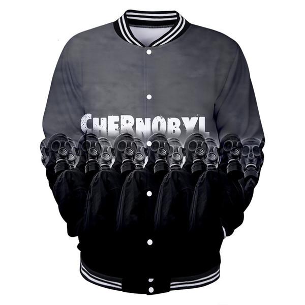 Толстовки Чернобыльская Черна Bailey 3d Длинные рукава плюс бархат бейсбол Одежда мужчин и женщин балахон