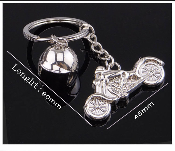 Fashion Charm 3D Motorcycle Helmet Shaped Keychain Key Rings For Men Car Women Bag Key Chain Souvenirs Custom logo Free DHL G660Q A