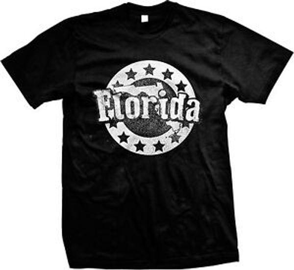 Florida Shape Stars FL Floridian Sunshine State Pride Mens T-shirt