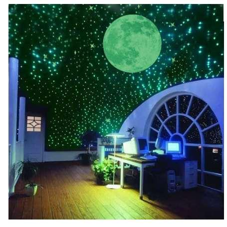 /Pack Night Luminous Stars Fluorescent 3D Wall Stickers Children\'S Bedroom  Stickers Glow In The Dark Stars Nursery Wall Decals Nursery Wall Sticker ...