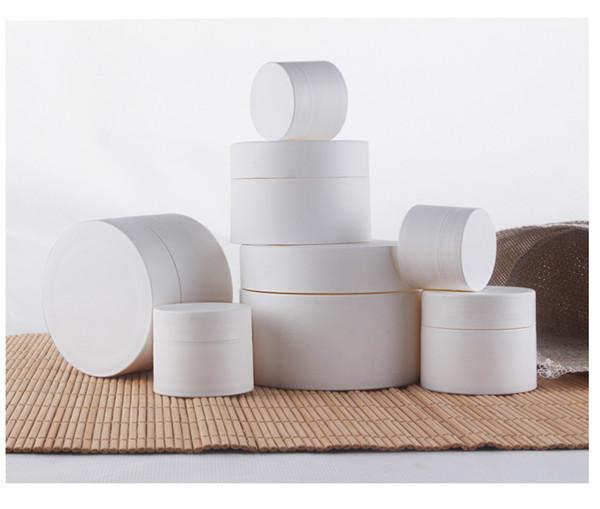 300 шт. / Лот 30 г 30 мл матовой поверхности PP белые кремы для лица банки, пластиковый пустой косметический контейнер, маска контейнер