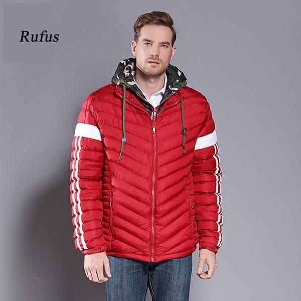 Homens jaqueta de algodão vermelho inverno moda quente homens parka inverno casaco windbreaker outwear tamanho grande 7xl