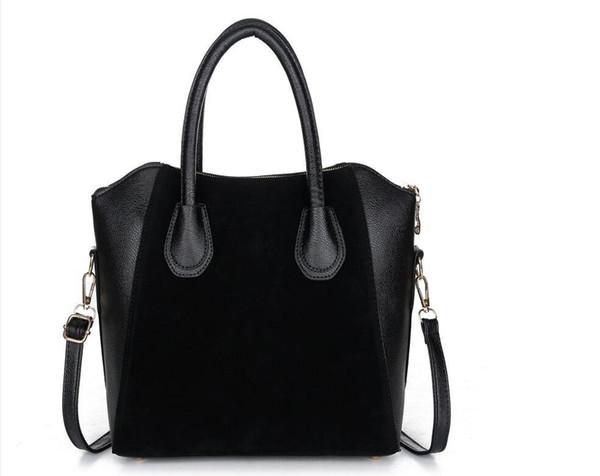 Оптово-Горячая распродажа! Сумка модные сумки 2017 лоскутное кожа нубука женская сумка смайлик сумки на ремне бесплатная доставка