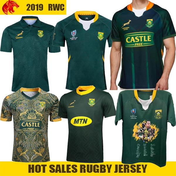 top popular South Africa 100 years rugby Jersey Word Cup Signature Edition Champion Joint Version Mens jersey national team rugby jerseys shirts S-5XL 2020
