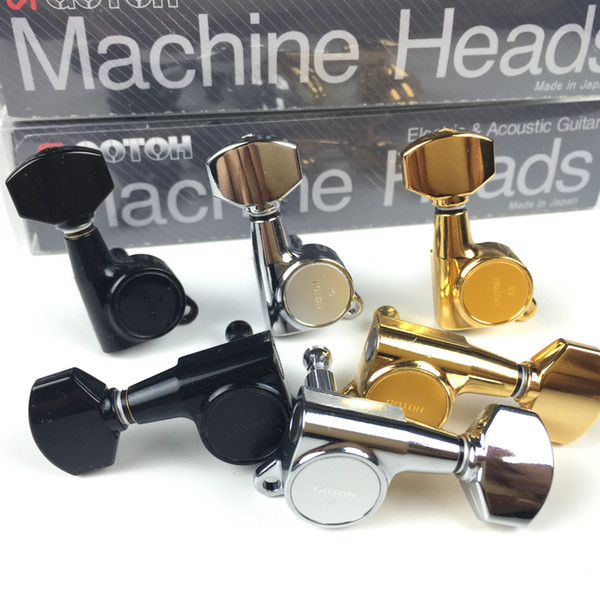 Original GOTOH SG381-07 Electric Guitar Machine Heads Tuners ( Chrome Black Gold Silver ) Tuning Peg MADE IN JAPAN