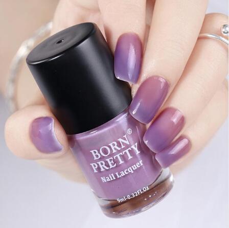BORN PRETTY Smalto per unghie a cambio di colore 9ml Peel Off Thermal Sunlight Sensitive Nail Art Vernice per smalto per manicure