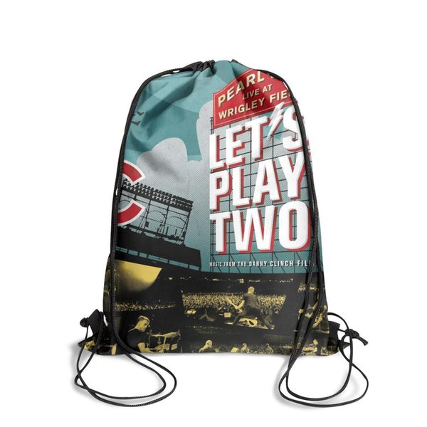 Sports backpack Pearl Jam Let's Play Two cool cute Classicpackage durable sports backpack school sack pouch pull string Backpack