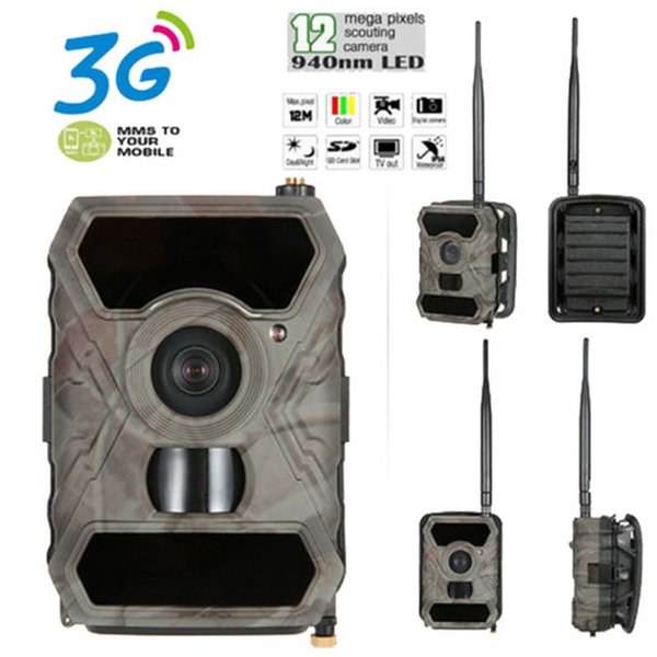 1 PCS 10 Languages Wide Life Scouting Camera Support 3G and APPs 12MP 1080P video DVR recorder hunter camera waterproof IR photo