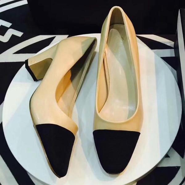 Dana Derisi Düğün Kadınlar Podyum Yavru Topuklar Slingbacks Pompaları Sandalet Katır Flats Bej Gri Elbise Tek Ayakkabı Orijinal Kutusu Ile