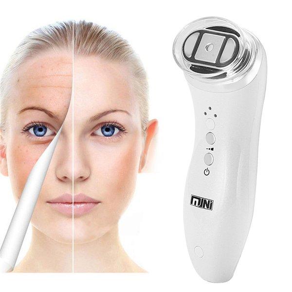 Mini portatile Hifu ad ultrasuoni focalizzato bipolare RF viso collo lifting macchina di bellezza ascensore massaggiatore rimozione delle rughe serraggio radiofrequenza