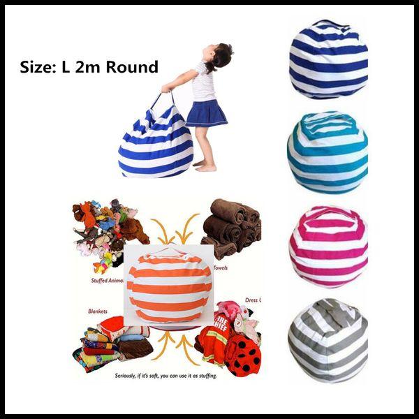 STOCK Make up Storage Bean Bag Portable Kids Stuffed Animal Toy Globular Storage Pouch Play Mat Clothes Organizer Tool 5 Colors