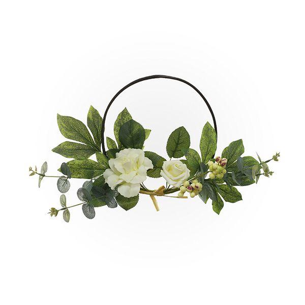Flores Artificiais Grinaldas Porta Qualidade Perfeita Guirlanda Artificial Para A Noiva Do Casamento Flores Mão Hoop Decoração Casa Decoração Do Partido Casa De Fazenda