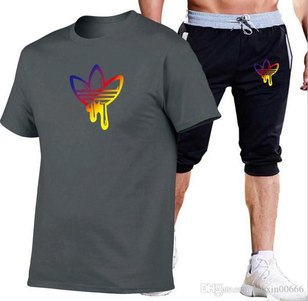 Survêtement Designer Homme T-shirts + Shorts Vêtements Sweat Pull Décontracté Pantalon Survêtement Sport Sweat Vêtements de Sport Ensemble Hauts T-shirts