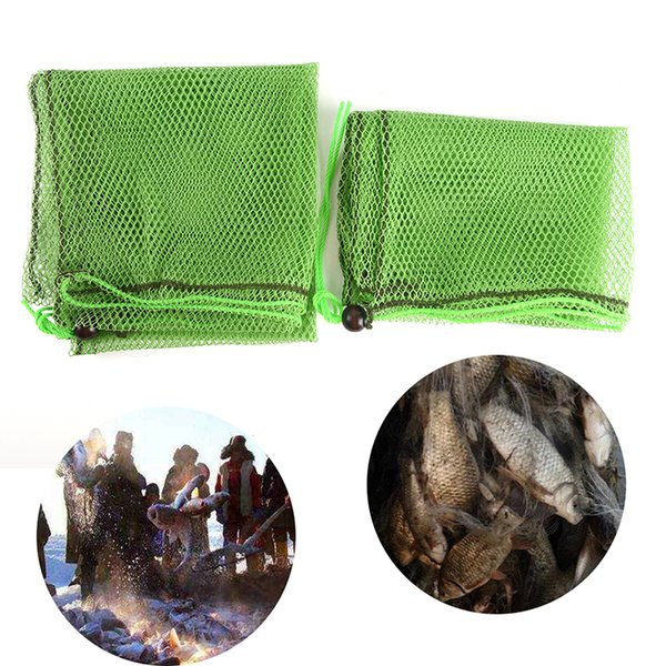1pc fishing nets trap collapsible fishing tools folding nylon mesh cast color random accessories simple fish bag tackle 2 sizes thumbnail
