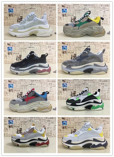 2019 marca de moda paris 17fw triplo-s sapatilha casual pai luxo shoes para  homens ae43919f5e342
