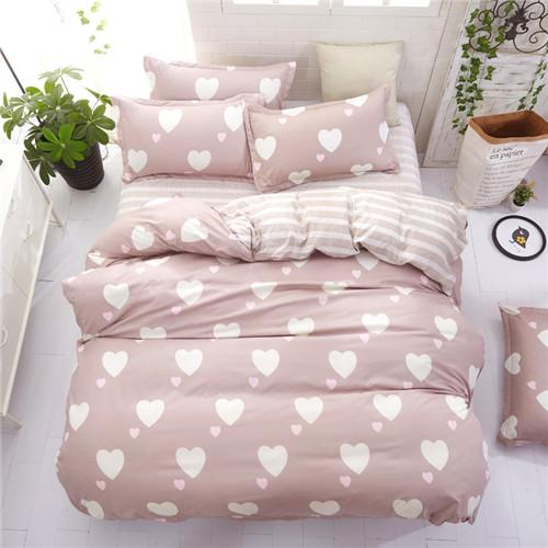2019 New Side Bedding Solid Simple Bedding Set Modern Duvet Cover Set King Queen Full Twin Bed Linen Brief Bed Flat Sheet Set