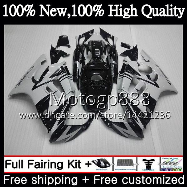 Body For HONDA Grey black CBR600 F3 CBR600RR F3 CBR600FS 95 96 47PG21 CBR 600F3 FS 96 CBR600F3 CBR 600 F3 1995 1996 Fairing Bodywork kit