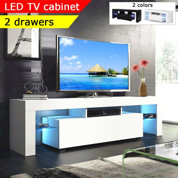 2019 160cm Tv Stand Living Room Furniture Led Modern Tv Table Entertainment Center Monitor Stand Flat Screen Riser Cabinet Console From