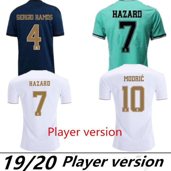 Spielerversion Real Madrid 2019 # 23 # HAZARD # 9 BENZEMA Heimtrikots 19/20 Herren Spielerversion Fußballtrikots Sportuniformen Reduziert