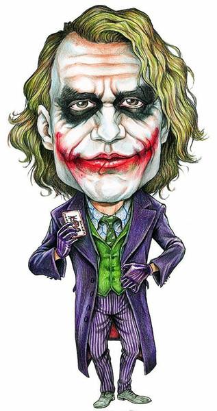 2019 The Joker Heath Ledger Caricature Batman The Dark Knight Wall Decor Art Silk Print Poster 97 From Lyshop007 13 26 Dhgate Com