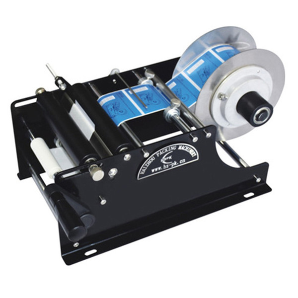 New de ign portable manual labeling machine mall ticker labeling machine jar pla tic bottle labeler roll tag maker marking packing machine