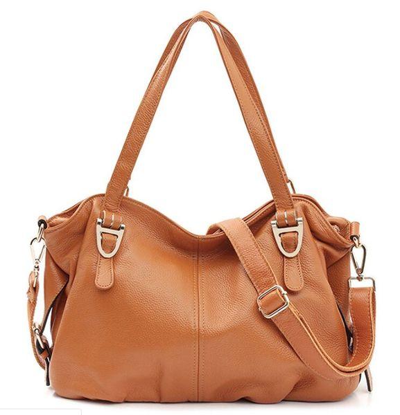 Europäische Art und Weisequalität echtes Leder echte Kalbsleder Frauen Luxus große beiläufige Handtasche Umhängetasche Tote Geldbörse y09