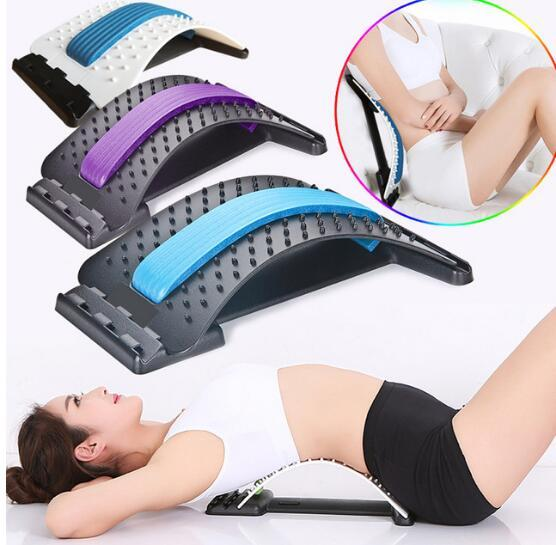 top popular Stretch Equipment Back Massager Magic Stretcher Fitness Lumbar Support Relaxation Mate Spinal Pain Relieve Chiropractor message 2021
