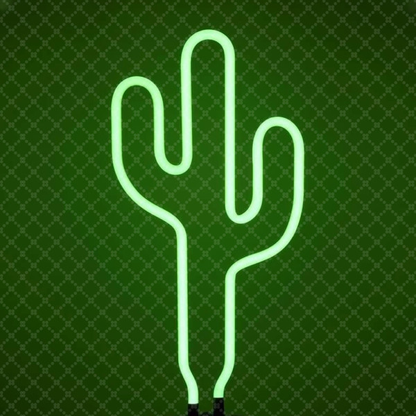 Cactus cerise ananas décoration magasin de décoration murale Sign ins de style en verre fait à la main néon Tube signe lumière Super Bright
