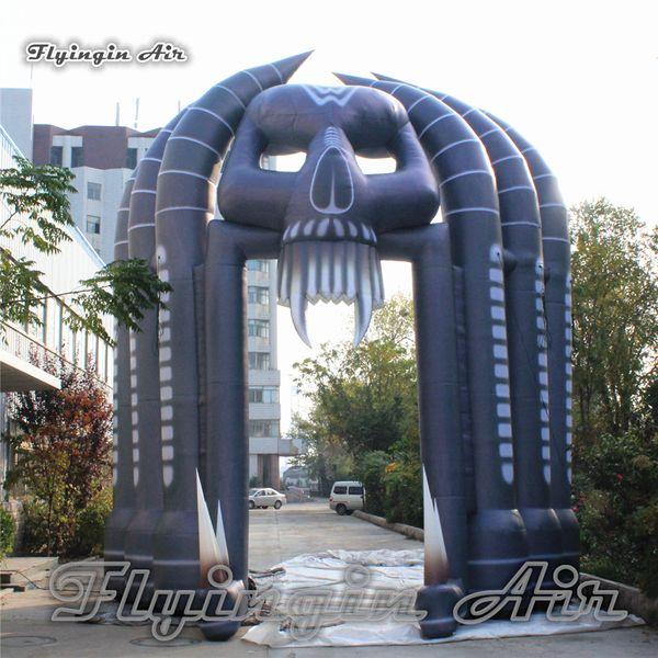 Kundengebundener großer schrecklicher aufblasbarer Skeleton Torbogen-durchgebrannter Teufel-Schädel-Bogen für Konzert-Stadium und Halloween-Dekoration