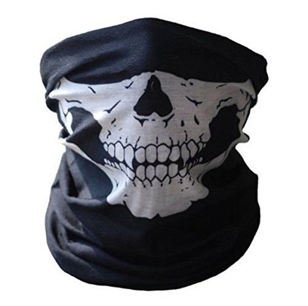 Cadılar bayramı Korkunç Maske Festivali Kafatası Maskeleri İskelet Açık Motosiklet Bisiklet Çok Maskeleri Eşarp Yarım Yüz Maskesi Kap Boyun Hayalet