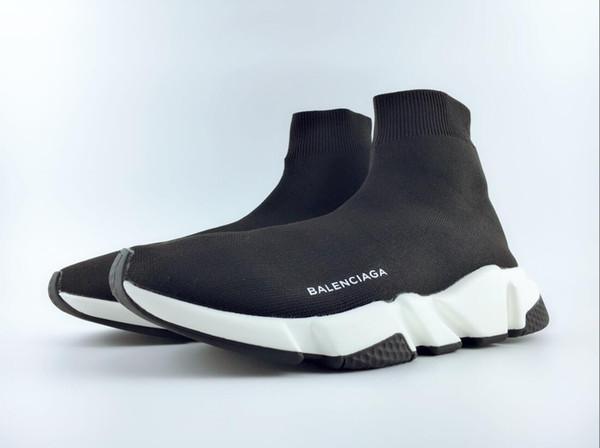 2018 Alta Qualidade Unisex Trainer Velocidade Sapatos Casuais Planas Meia Botas Mulheres Novas Sapatilhas Designer Runner Homens Sapatos Desportivos Formadores EUR 36-45