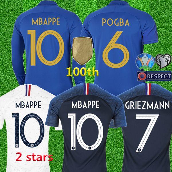 Top thailand Maillot de foot 100th anniversary Blue Kids soccer jerseys short long sleeve Men Kids Camisas de Futebol Camisetas