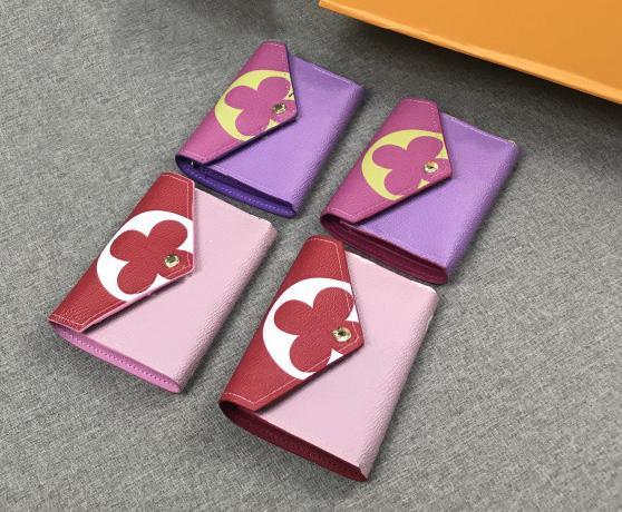 Niedliche Mädchen Brieftasche Designer Brieftasche Designer Handtasche Mode Frau Karte Tasche Brieftaschen dreifach tragbare Brieftasche