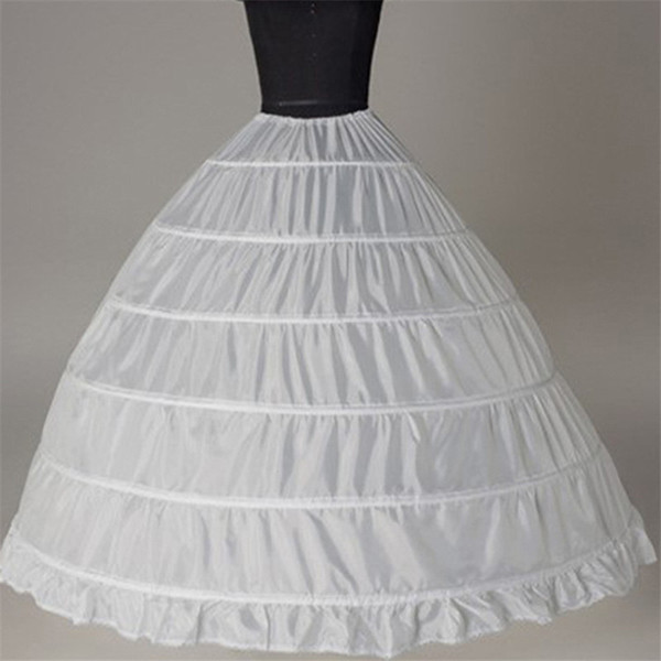 white 6 hoops petticoat crinoline slip underskirt for wedding dress bridal gown petticoat women bubble skirt wedding petticoats