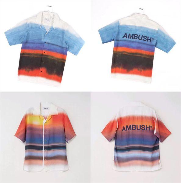 New Ambush T-shirt Homme 1: 1 Cravate Haute Qualité Teinture T-shirts T-shirts Summer Style Ambush T-shirt