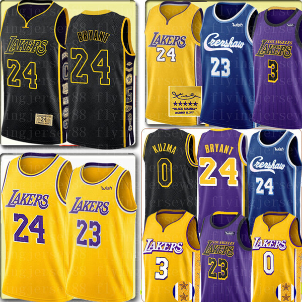 best selling 24 LeBron 23 James Bryant jersey Los