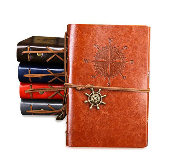2019 Spiral Notebook Diary Notepad Vintage Pirate Anchors PU Leather Note Book Replaceable Stationery Gift Traveler Journal DHL