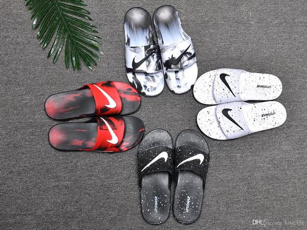 NEUE Designer Slipper Gear Bottoms Herren gestreifte Sandalen kausal Rutschfeste Sommerhose Slipper Flip Flops Slipper BEST QUALITÄT
