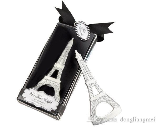 Marki Romantik Düğün Hediyelik Eşya Paris Eyfel Kulesi Şişe Açacağı Yenilik Düğün Parti Lehine hediyeler perakende paket kutusu ile wn686A 60 adet