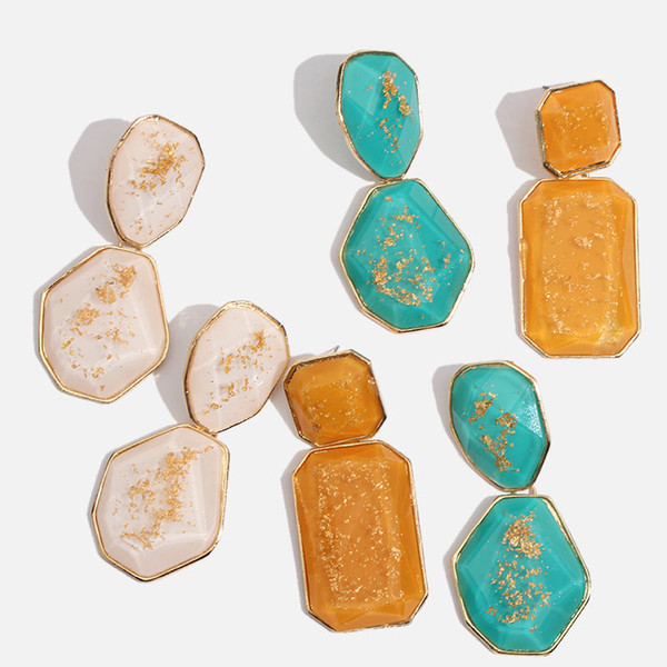 SOLO SENTIRÁ Nueva Moda Multicolor Pendientes Colgantes de Piedra Para Las Mujeres Hechas A Mano Cuelga El Encanto de La Gota de Verano Declaración Pendiente Joyería