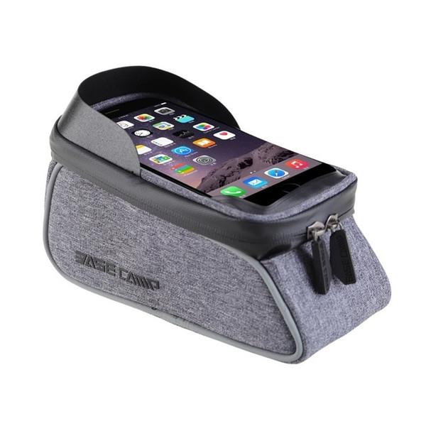 6 pulgadas de pantalla táctil a prueba de agua bolsas de bicicleta Mountain Road Bike Tubo delantero superior del marco del bolso Ciclismo caja de la bolsa del teléfono móvil barato DH # 510095