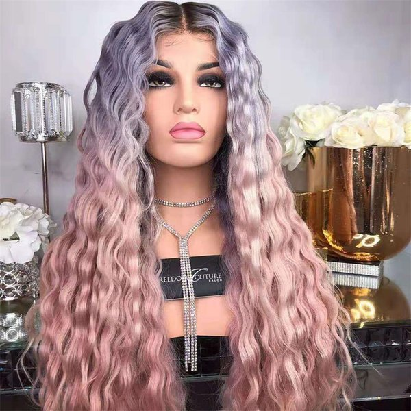Sıcak satış moda kadınlar uzun saç peruk 22 inç Yaki düz ombre renk peruk dokuma kap ücretsiz kargo ile 100% sentetik saç
