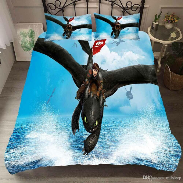3D How to Train Your Dragon 3 Hiccup Bedding Set Duvet Cover Pillowcase