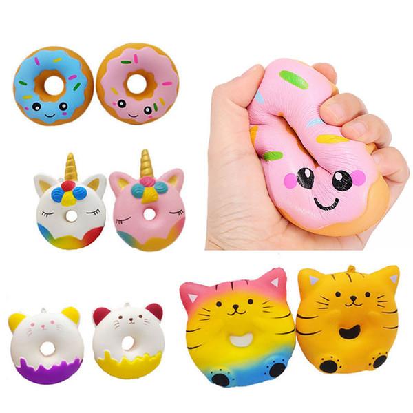 Ciambelle Squishies Ciambella Unicorno Squishy Lento Rising Cat Food Bun Phone Pendant DHL LIBERA il Trasporto SQU095