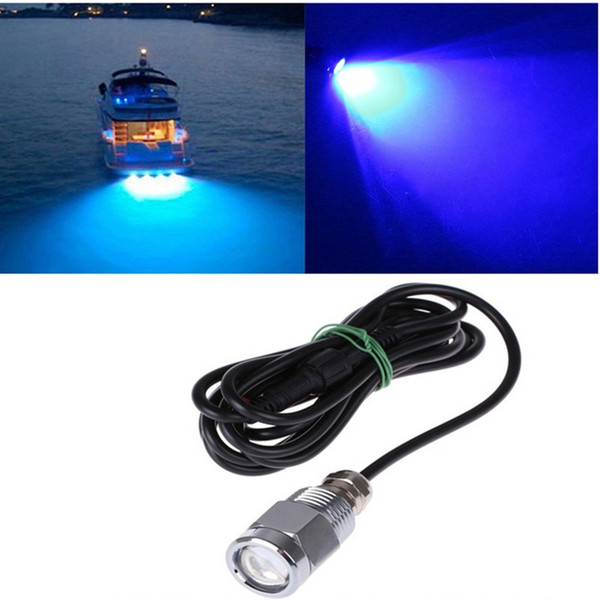 9W IP68 Waterproof LED Underwater Light with Connector Drain Plug Light Marine Boat Yacht Light DC 8-28V
