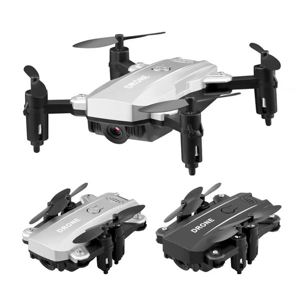 Mini lightweight folding black and white drone aerial photography wifi four-axis aircraft remote control helicopter toy
