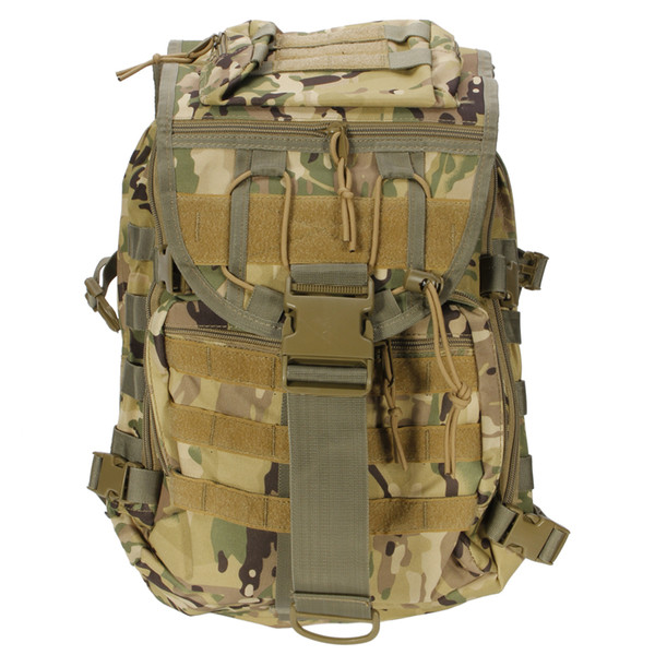 X7 Outdoor Multi-functional Oxford Cloth Tactical Backpack 35L CP Camouflage