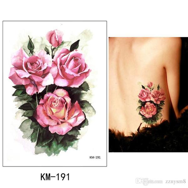 Blume Arm Tattoo Aufkleber wasserdicht weibliche Farbe Schmetterling Tattoo Aufkleber große Rose bedeckt Narbe Gips Bikini Dekoration